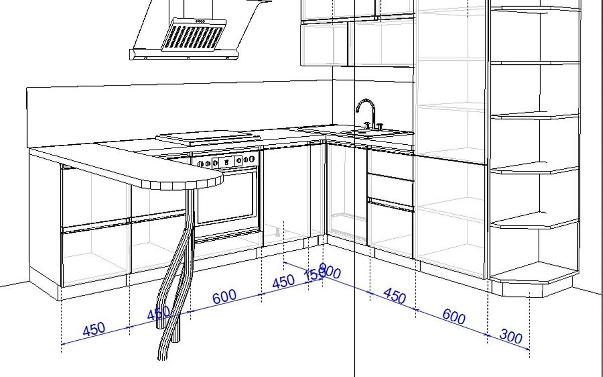 подсветка кухонного гарнитура схема