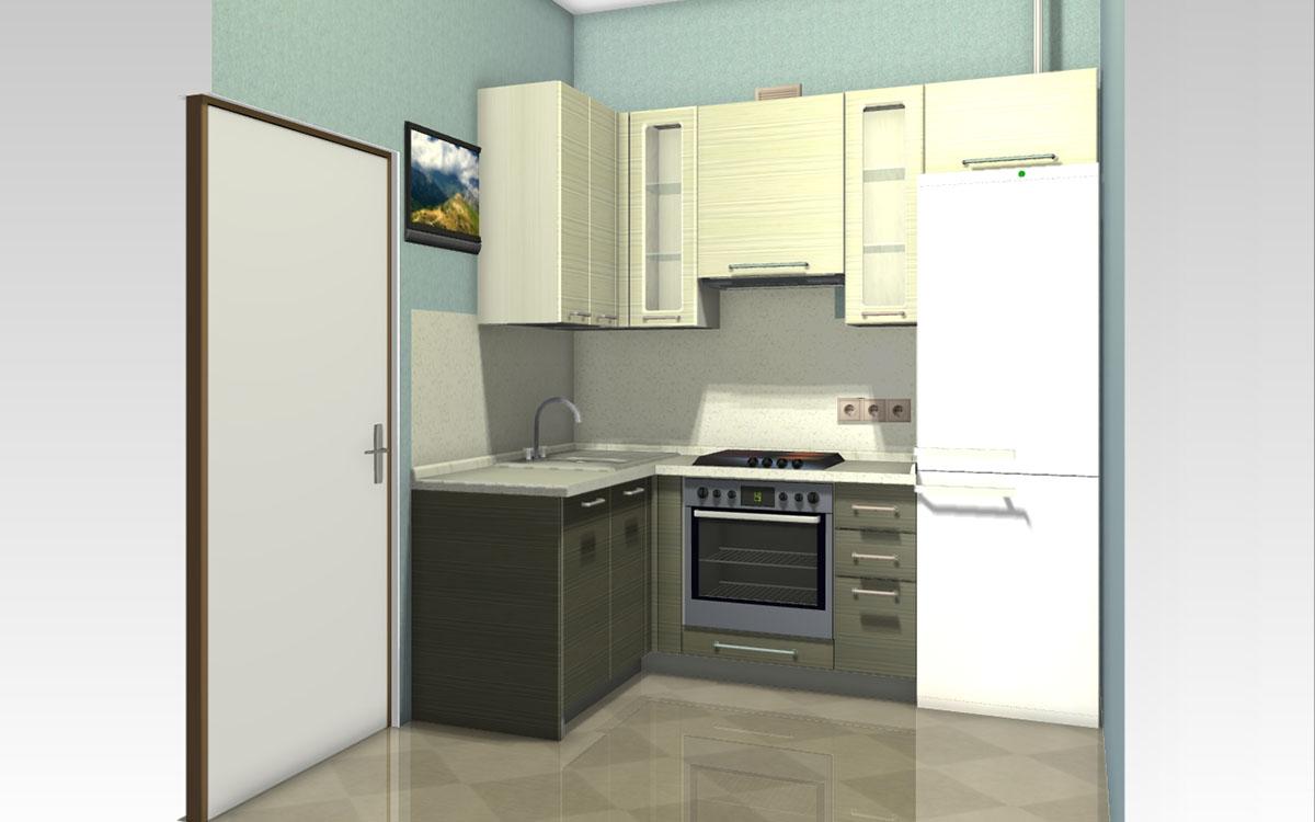 Угловой холодильник